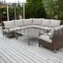 Rohový záhradný nábytok Royal Brown