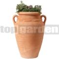 Antická rostlinná amfora terracotta