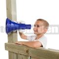Dětský megafon modro-bílý