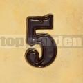Domovní číslo popisné 5 glazované