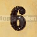 Domovní číslo popisné 6 glazované