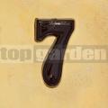 Domovní číslo popisné 7 glazované