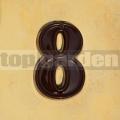 Domovní číslo popisné 8 glazované