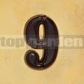 Domovní číslo popisné 9 glazované