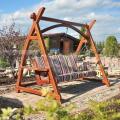 Dřevěná zahradní houpačka TGO201601