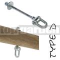 Houpačkový hák typ D 160mm