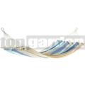 Houpací síť JOIA s tyčemi modro-béžová