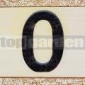 Kovové domovní číslo 0