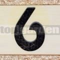 Kovové domovní číslo 6
