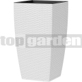 Květináč Casa Mesh bílý 517575