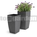 Květináč Casa Mesh šedý 517578