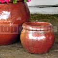 Květináč Gaia Red Cooper 21 cm