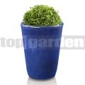 Květináč glazovaný vysoký modrý