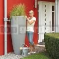 Moderní dvoufunkční nádrž zinkově šedá