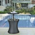 Multifunkční stolek Cool Bar Rattan Antracit