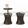 Multifunkční stolek Cool Bar Rattan Hnědý