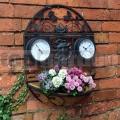 Nástěnný květináč s hodinami a teploměrem GCTC