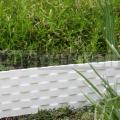 Palisáda rattan bílá 0,8 m