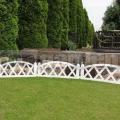 Plůtek do zahrady bílý 3,2m