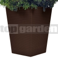 Ratanový květináč - L brown 228925