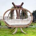 Zahradní houpačka Globo Kacper se stojanem krémová