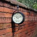 Zahradní nástěnné hodiny Victorian Station