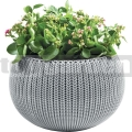 Závěsný květináč Cozies M šedý