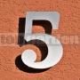 Nerezové číslo domu 5