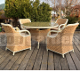 Záhradný jedálenský nábytok Luxury