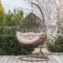 Závesné ratanové kreslo Relax so stojanom
