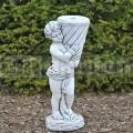 Kisfiú szobor virágcseréppel ba 121
