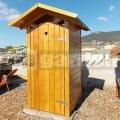 Drevené záhradné WC LUX