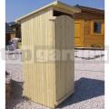 Drevené záhradné WC