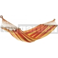 Függőágy JOIA fa kerettel vörös-sárga-narancssárga 25373