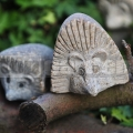 Kő süni szobor 12 cm