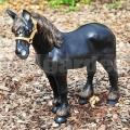Fekete ló szobor A35a
