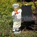 Szakács szobor étlappal A143