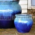 Virágcserép Artemis Marble Green Blue 29 cm