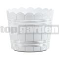 Kvetináč Country 24 cm biely 515257