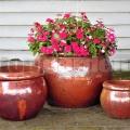 Virágcserép Gaia Red Cooper 46 cm