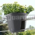 Korlát virágcserép Casa Mesh antracit 515013