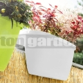 Korlát virágcserép My City Garden White 515388
