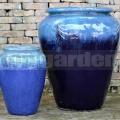 Amfora Athena Marble Green Blue 72cm