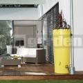 Moderná dvojfunkčná nádrž žltá