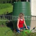 Műanyag esővíztartály sötétzöld