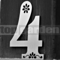 Rozsdamentes házszám Dekor 4