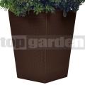 Rattan utánzatú virágcserép - L brown 228925