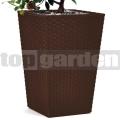 Rattan utánzatú virágkaspó - S brown 228977