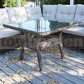 Ratanový stôl Salvínia Brown
