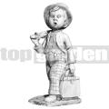 Táskát tartó fiú szobor A68